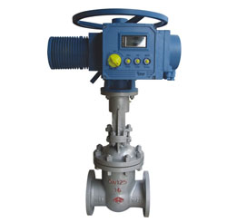 Mid voltage flangde steel gate valve
