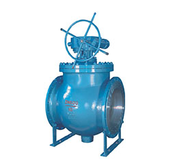 Above the device eccentric ball valve